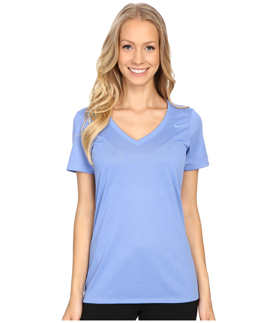 Nike Legend 2.0 V-Neck Training Tee (Chalk Blue/Chalk Blue) Women