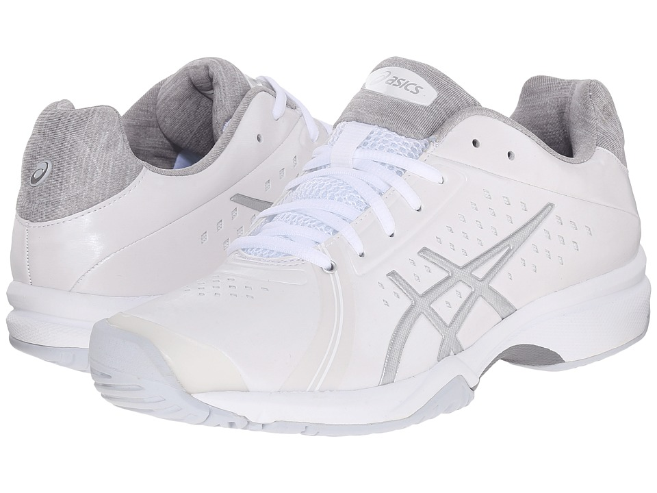 ASICS - Gel-Court Bella (White/Silver/White) Women's Tennis Shoes