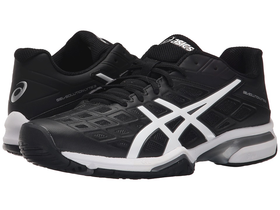 ASICS - Gel-Solution(r) Lyte 3 (Black/White/Silver) Men's Tennis Shoes