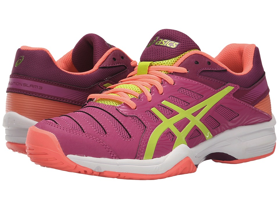ASICS - Gel-Solution Slam 3 (Berry/Lime/Plum) Women's Tennis Shoes