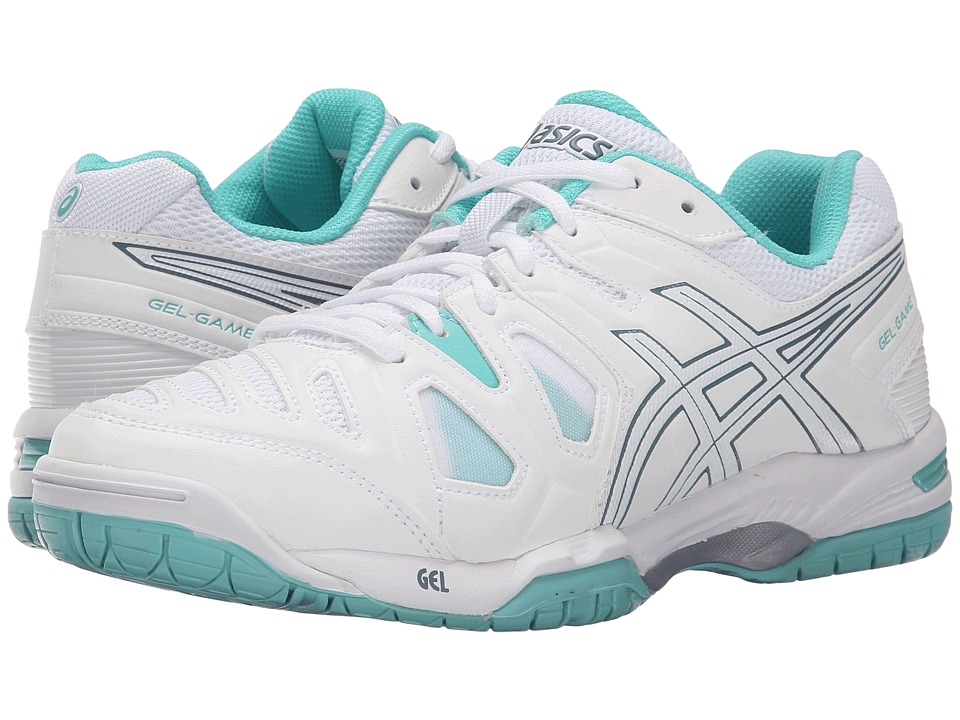 ASICS - Gel-Game 5 (White/Blue Mirage/Pool Blue) Women