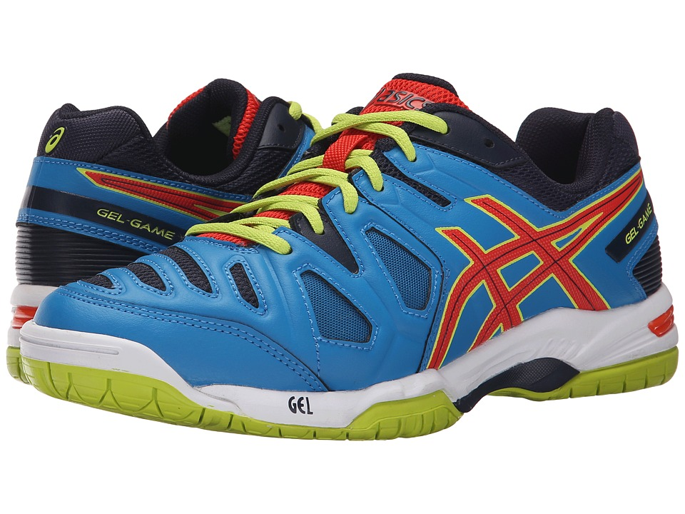 ASICS - Gel-Game 5 (Methyl Blue/Orange/Lime) Men's Tennis Shoes