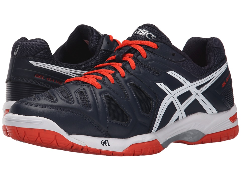 ASICS - Gel-Game 5 (Sky Captain/White/Orange) Men's Tennis Shoes
