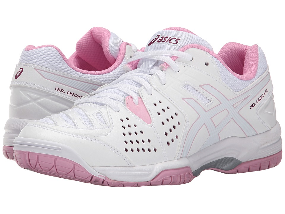 ASICS Gel-Dedicate 4 (White/Cotton Candy/Plum) Women