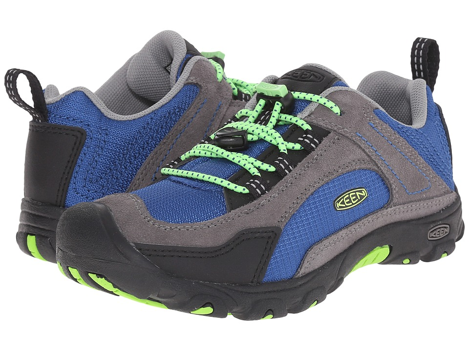Keen Kids - Joey (Little Kid/Big Kid) (True Blue/Jasmine Green) Boy's Shoes