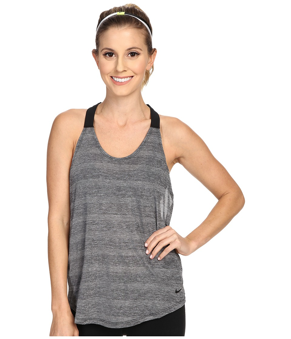 Nike - Elastika Elevate Tank Top (Black/Heather/Black/Black) Women's Sleeveless