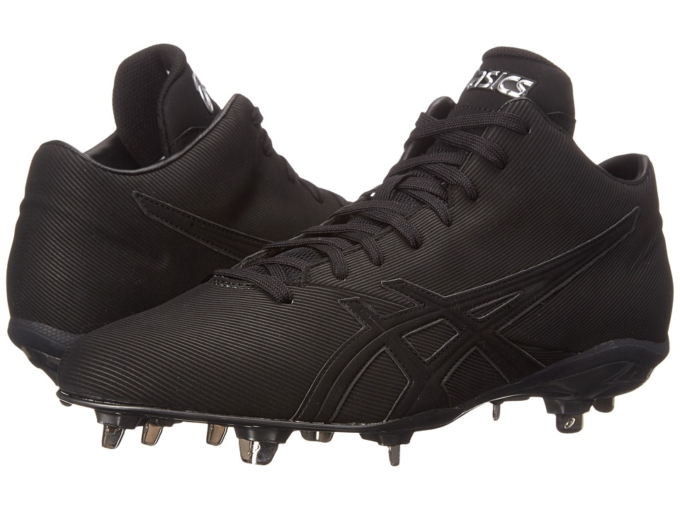 ASICS - Crossvictortm QT (Black/Black) Men's Cleated Shoes