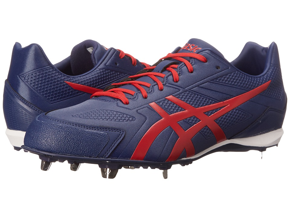 ASICS - Base Burner (Indigo Blue/Racing Red/White) Men's Cleated Shoes