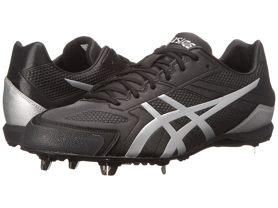 ASICS - Base Burner (Black/Silver) Men's Cleated Shoes
