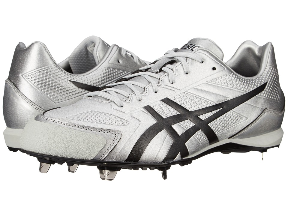 ASICS - Base Burner (Silver/Black) Men's Cleated Shoes