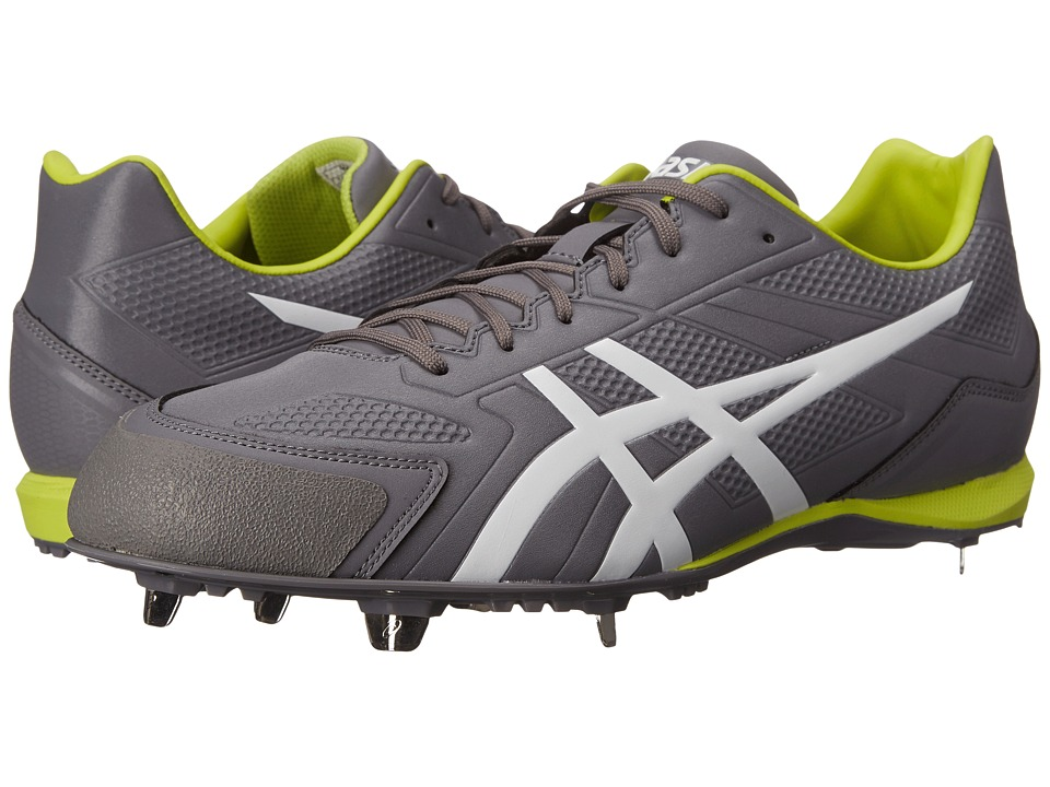 ASICS - Base Burner (Titanium/White/Lime) Men's Cleated Shoes