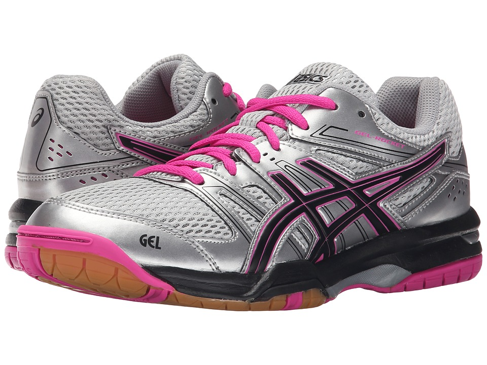 ASICS - GEL-Rocket 7 (Silver/Black/Pink Glow) Women's Shoes