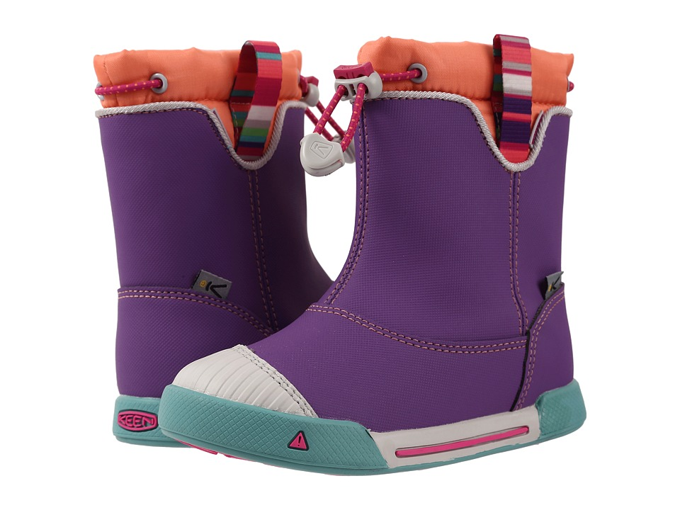 Keen Kids - Encanto 365 Boot WP (Toddler/Little Kid) (Purple Heart/Fusion Coral) Girls Shoes