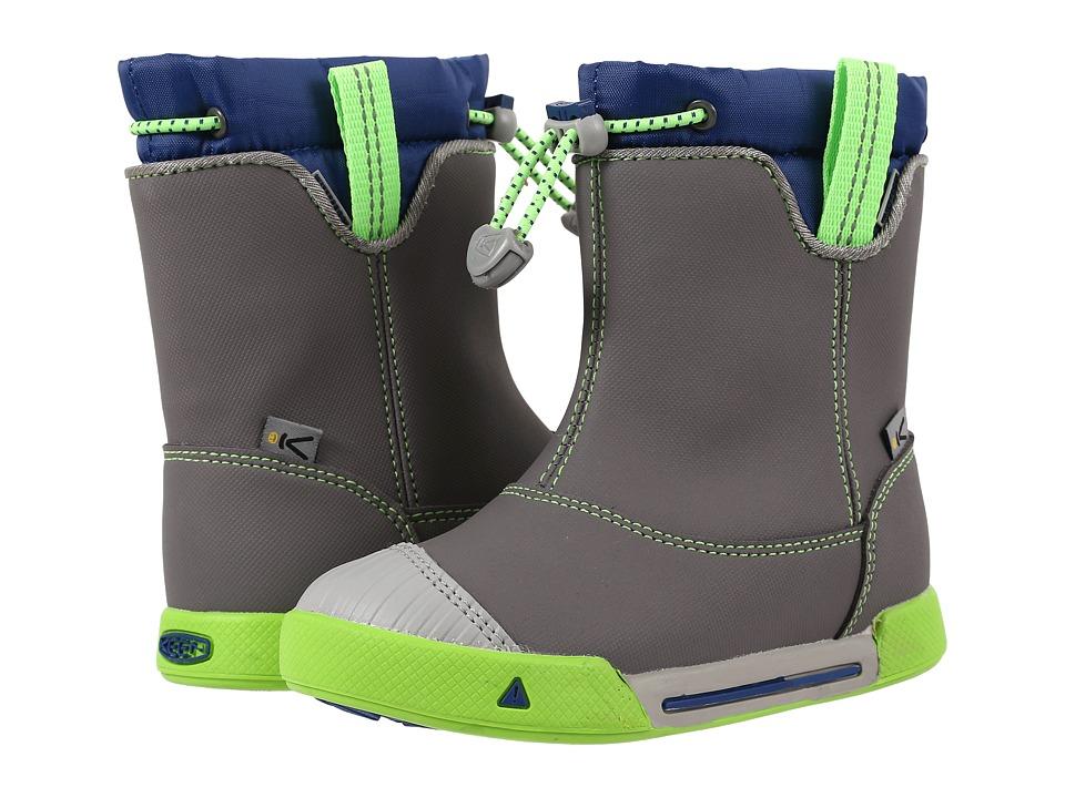 Keen Kids - Encanto 365 Boot WP (Toddler/Little Kid) (Gargoyle/True Blue) Boys Shoes