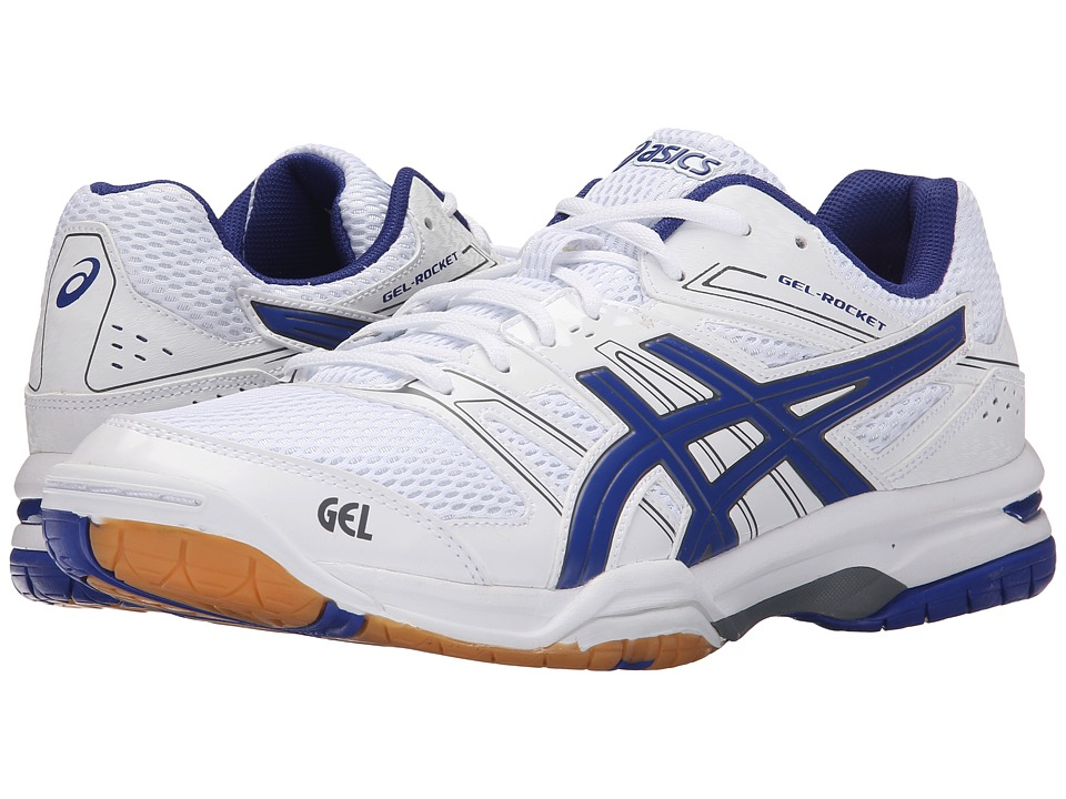 ASICS - GEL-Rocket 7 (White/Asics Blue/Titanium) Men's Volleyball Shoes