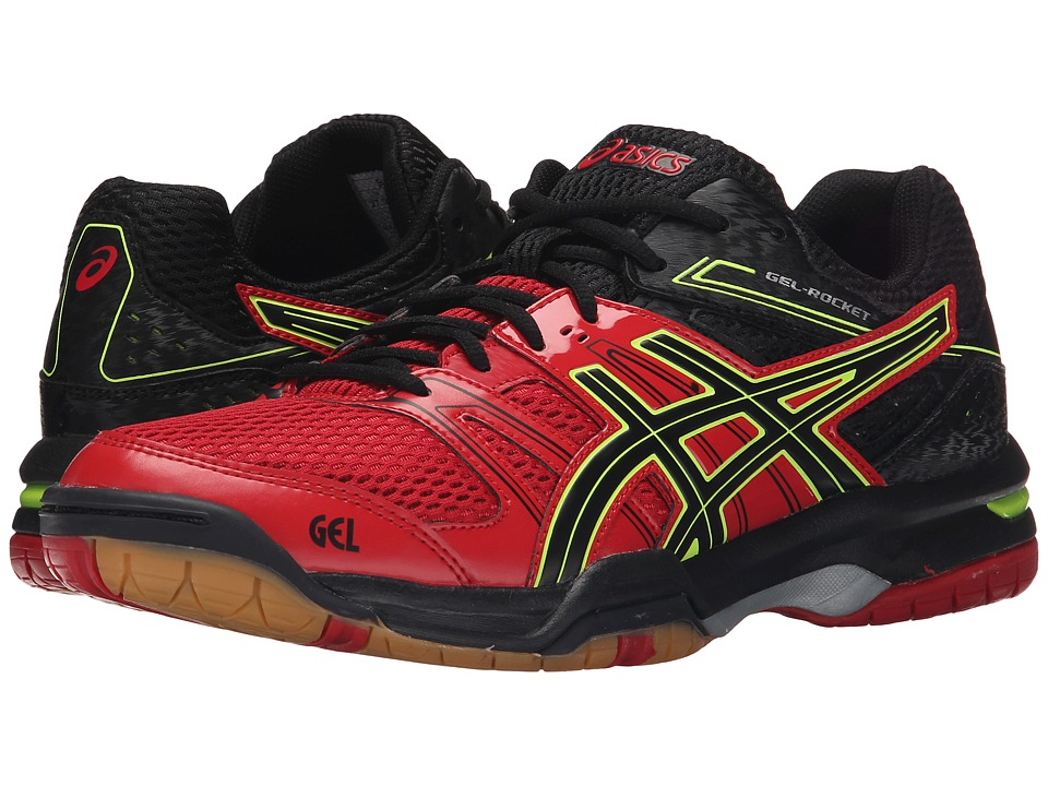 ASICS - GEL-Rocket 7 (Racing Red/Black/Flash Yellow) Men's Volleyball Shoes
