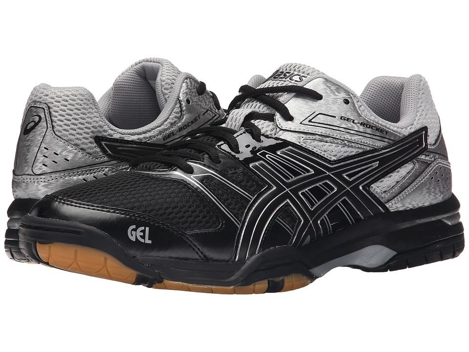 ASICS - GEL-Rocket 7 (Black/Silver) Men's Volleyball Shoes
