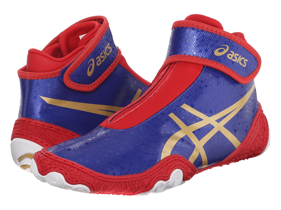 ASICS - OmniFlex-Attacktm V2.0 (Asics Blue/Gold/Red) Men's Wrestling Shoes