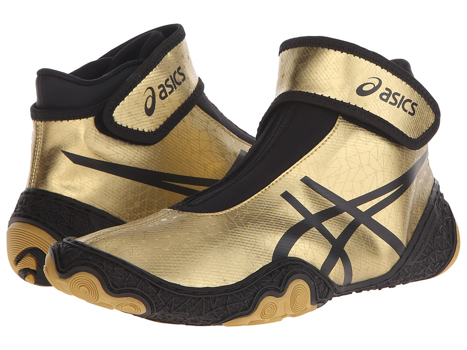 ASICS - OmniFlex-Attack V2.0 (Gold/Black) Men's Wrestling Shoes