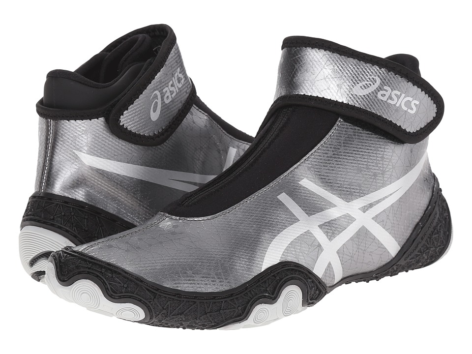 ASICS - OmniFlex-Attacktm V2.0 (Gunmetal/Silver/Black) Men's Wrestling Shoes