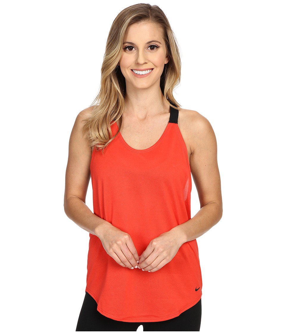 Nike - Elastika Solid Tank Top (Light Crimson/Black/Black) Women's Sleeveless