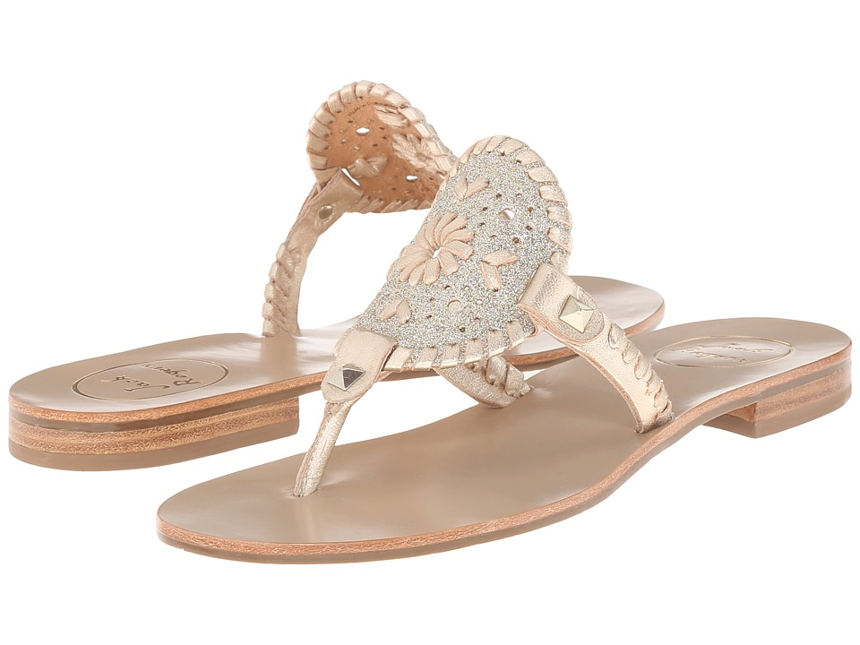 Jack Rogers - Georgica Sparkle (Platinum) Women's Sandals