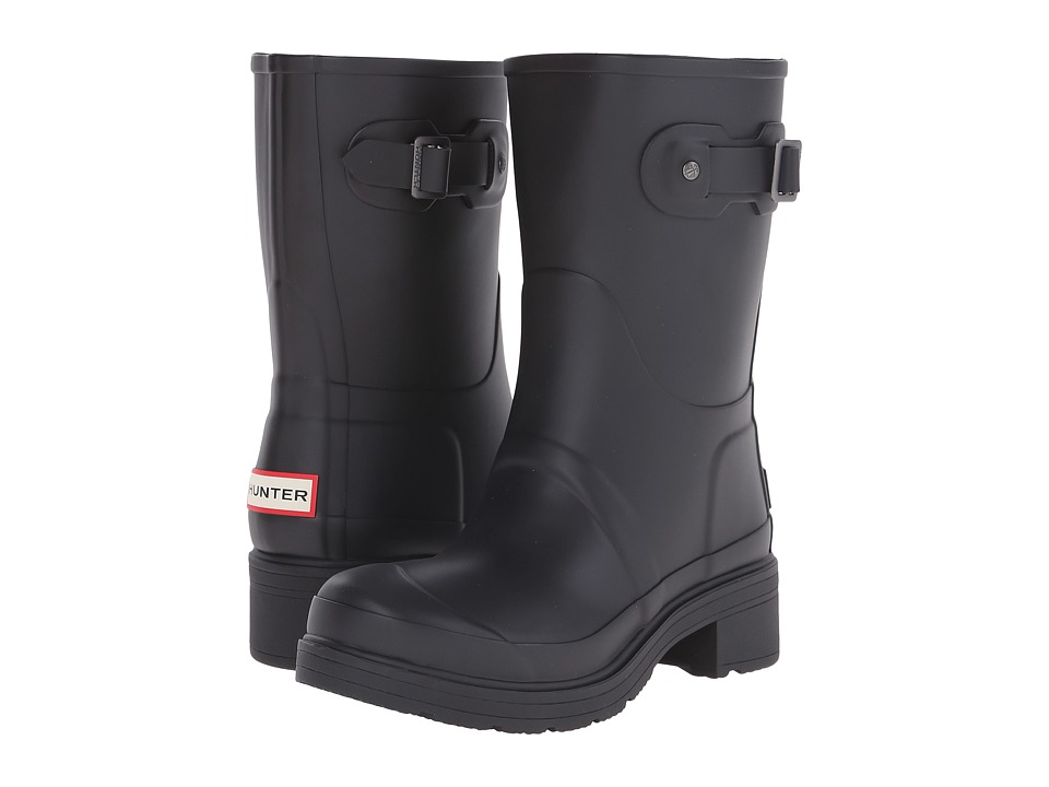 Hunter Original Ankle Boot (Black) Women's Rain Boots