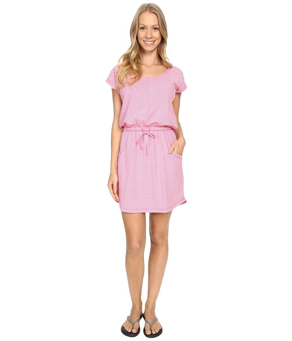 The North Face Short Sleeve Impulse Dress (Raspberry Rose Stripe (Prior Season)) Women