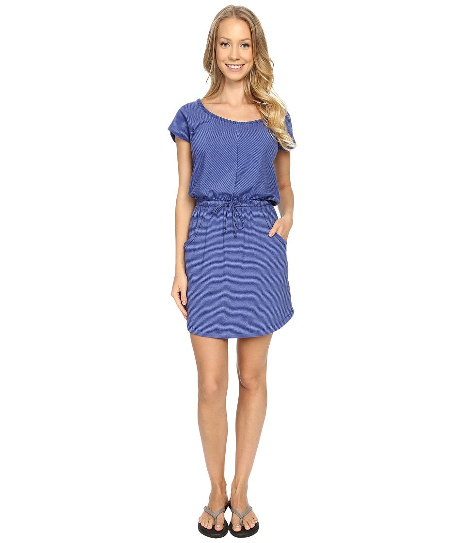 The North Face - Short Sleeve Impulse Dress (Patriot Blue Stripe) Women's Dress