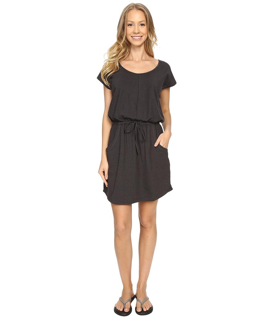 The North Face Short Sleeve Impulse Dress (Graphite Grey Stripe) Women