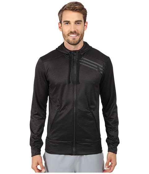 adidas - Standard One Full Zip Hoodie (Black/Dark Grey) Men