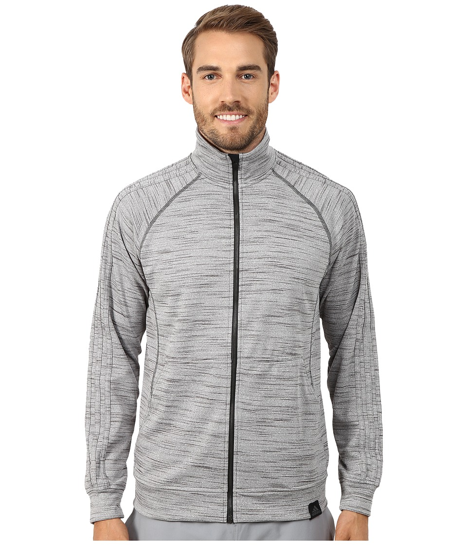 adidas - Standard One Track Jacket (Dark Grey Heather) Men's Jacket