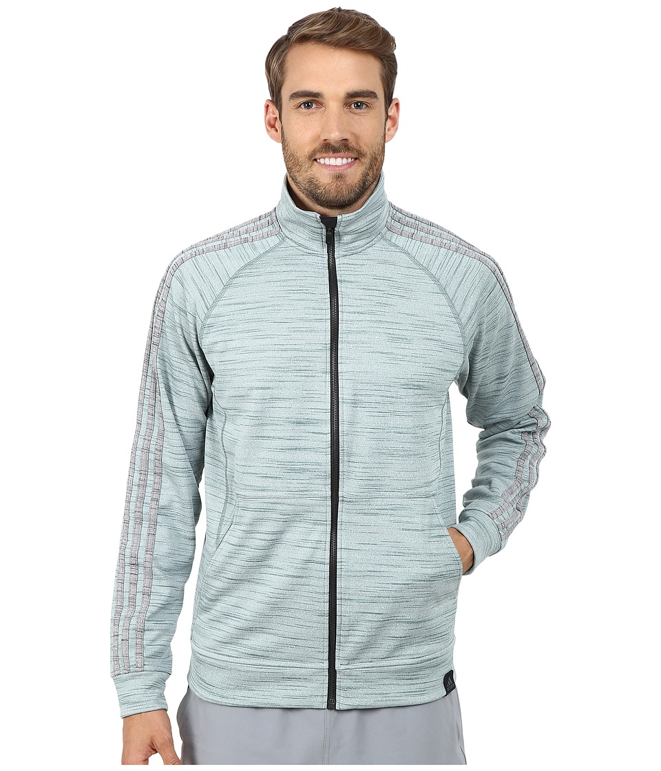 adidas - Standard One Track Jacket (Green/Dark Grey Heather) Men's Jacket