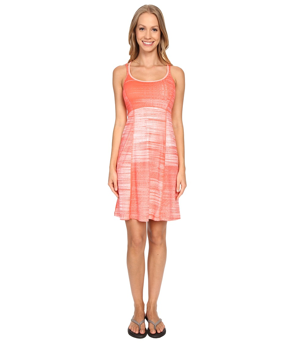 The North Face - Empower Dress (Radiant Orange Scratchy Print) Women's Dress