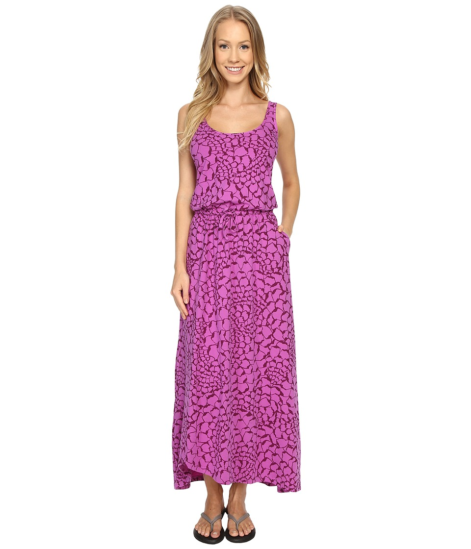 The North Face - On The Go Maxi Dress (Sweet Violet Organic Tonal Print) Women's Dress