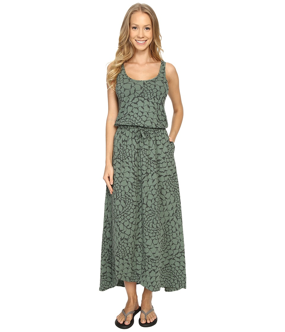 The North Face - On The Go Maxi Dress (Laurel Wreath Green Organic Tonal Print) Women's Dress