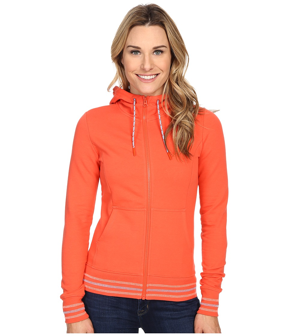 The North Face - Stretch Logo Full Zip Hoodie (Radiant Orange) Women's Sweatshirt