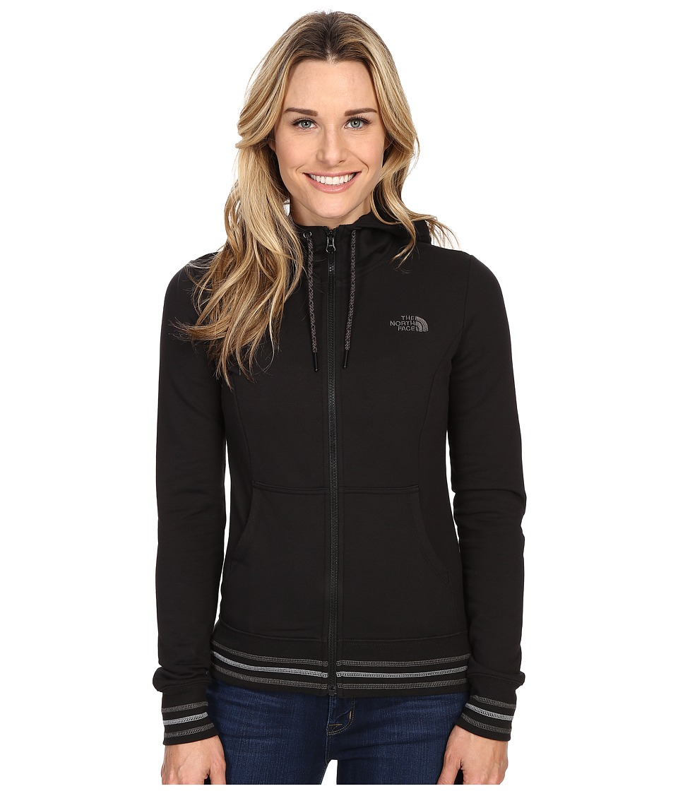 The North Face - Stretch Logo Full Zip Hoodie (TNF Black) Women's Sweatshirt