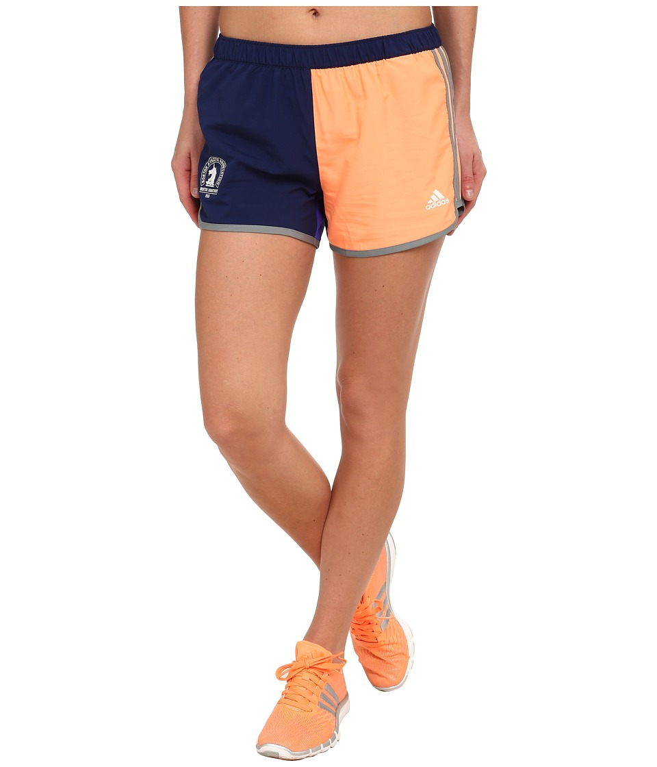 adidas - M10 Shorts (Night Sky Grey/Flash Orange) Women's Shorts