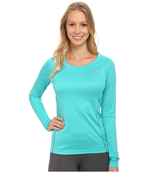 adidas - Sequentials Long Sleeve Tee (Vivid Mint) Women