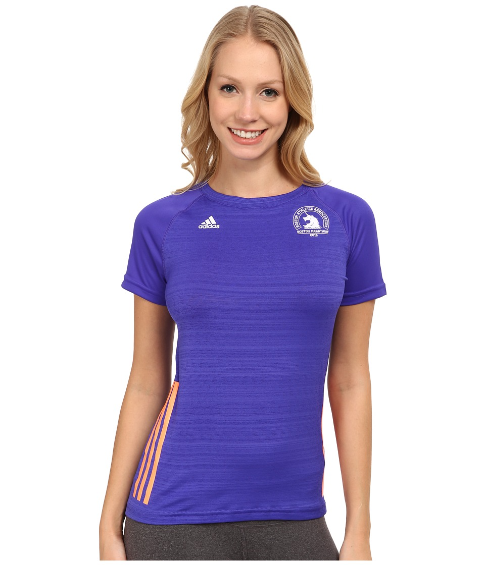 adidas - Supernova Short Sleeve Tee (Night Flash Purple/Flash Orange) Women's Workout