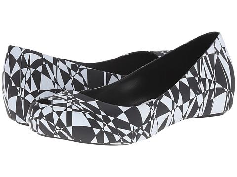 Melissa Shoes - Melissa Ultragirl + Gareth Pugh (Black/White) Women's Shoes