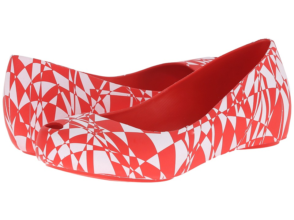 Melissa Shoes - Melissa Ultragirl + Gareth Pugh (Red/White) Women