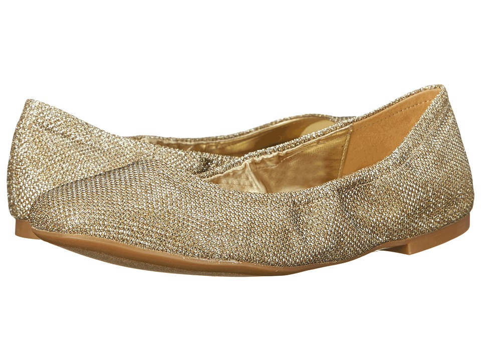 Nine West - Girlsnite (Gold Fabric) Women's Flat Shoes
