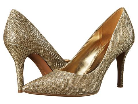 Nine West - Flax (Medium Gold Fabric) High Heels