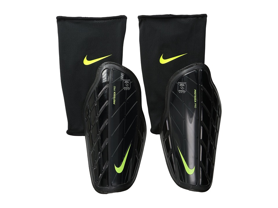 Nike - Attack Premium (Black/Black/Volt) Athletic Sports Equipment