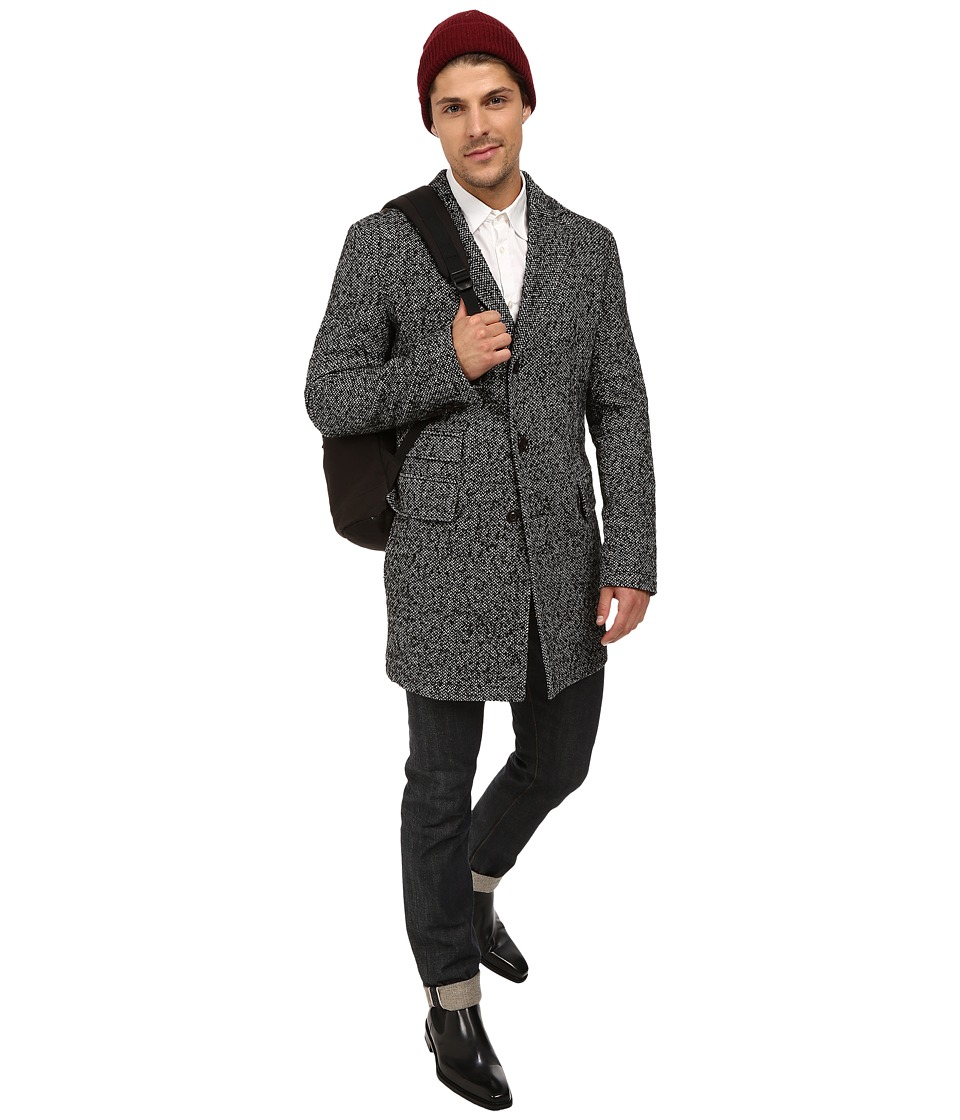 BOSS Orange - Barrets Blazer Three Button Vented Overcoat with Welt Pockets Notched Lapel (Black) Men's Jacket