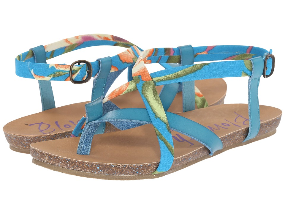 Blowfish - Granola (Lagoon Dyecut/Turquoise Rainforest Floral) Women's Sandals