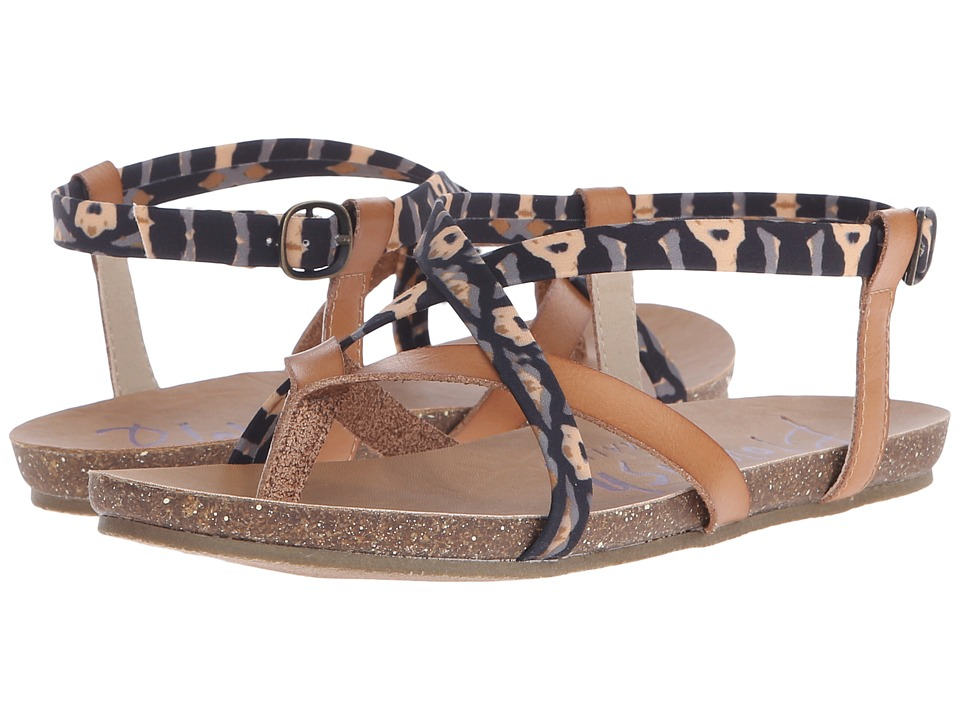 Blowfish - Granola (Desert Sand Dyecut PU/Natural Pirate Print) Women's Sandals