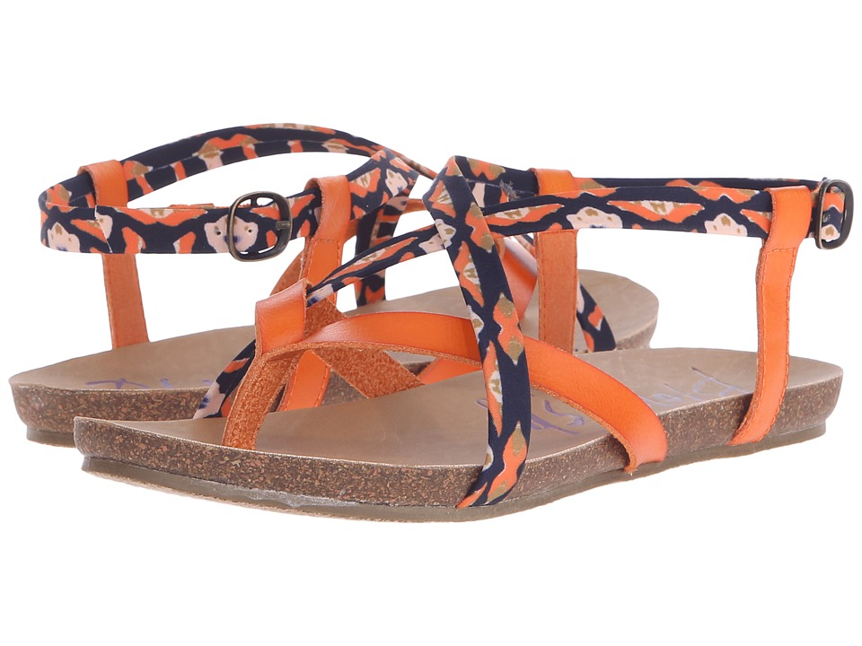 Blowfish - Granola (Tangerine Dyecut PU/Rust Pirate Print) Women's Sandals